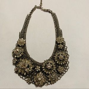 Banana Republic Silver Statement Necklace